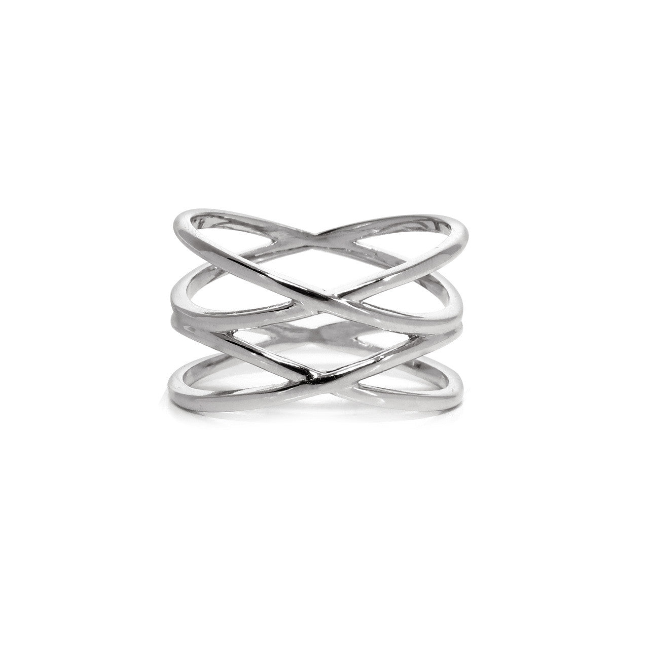"Double ""X"" Stacked Ring"
