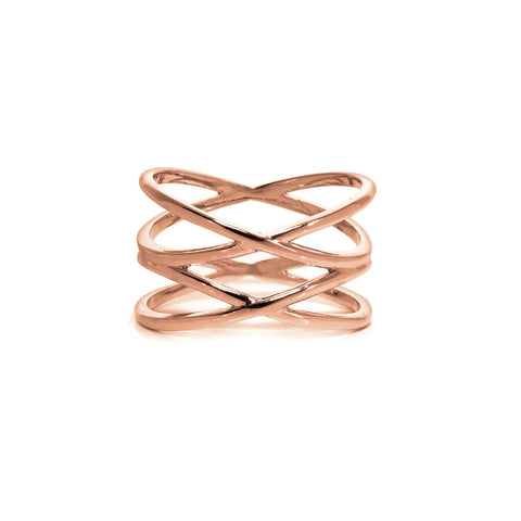 Double Helix Midi Ring