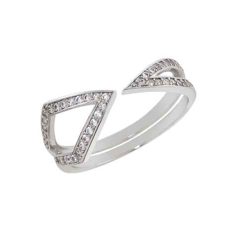 Geometric Pave Ring