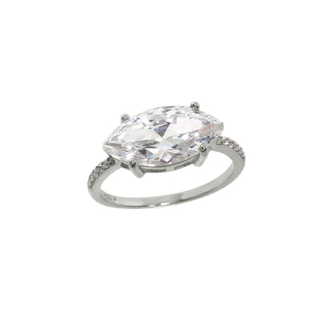 7 Carat Pave Marquise Ring
