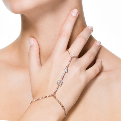 Cupid's Arrow Hand Chain