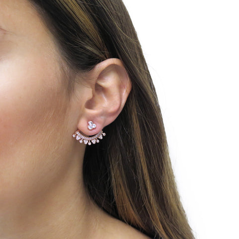 Pave Orchid Ear Cuff