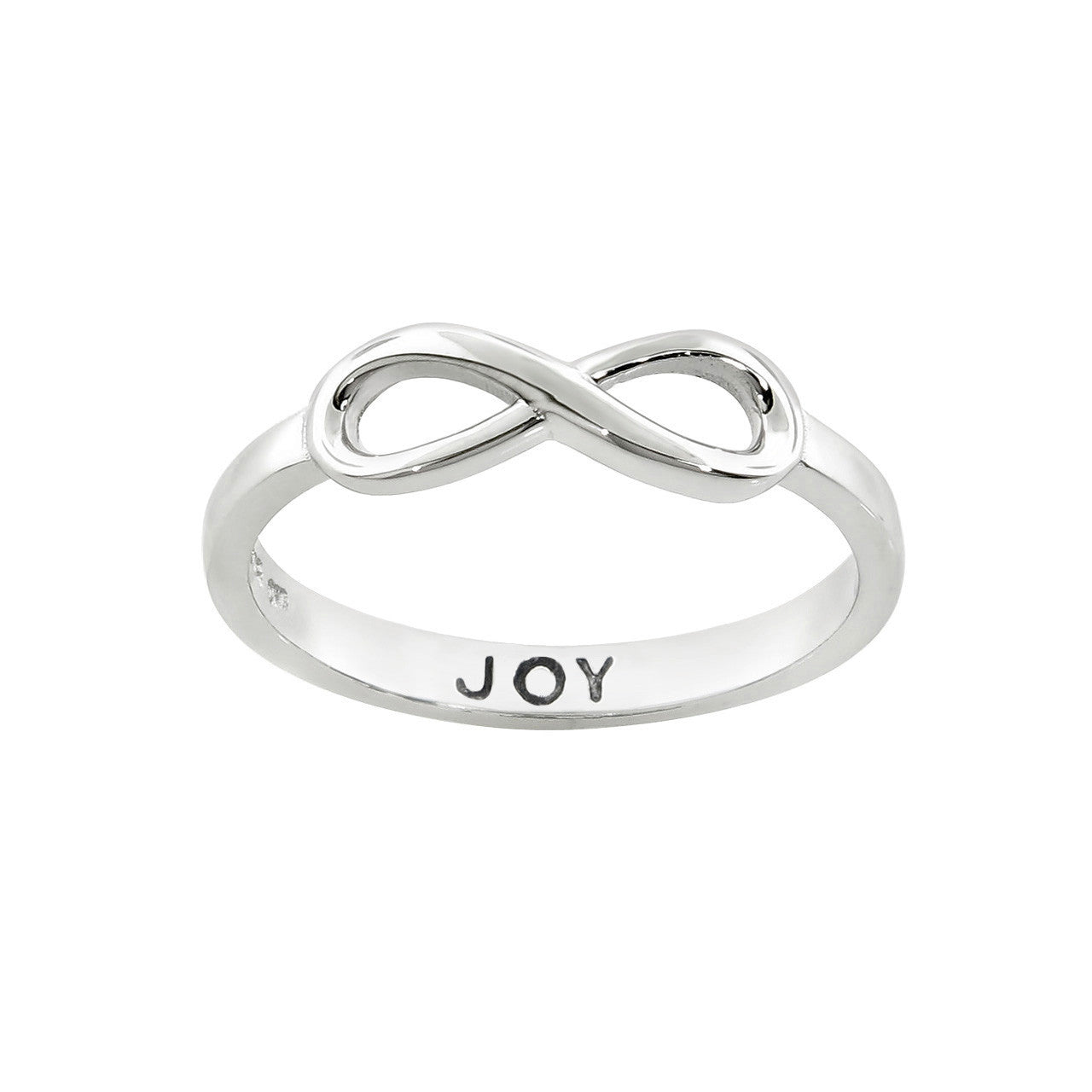 "Solid Sterling Silver ""Joy"" Message Ring"