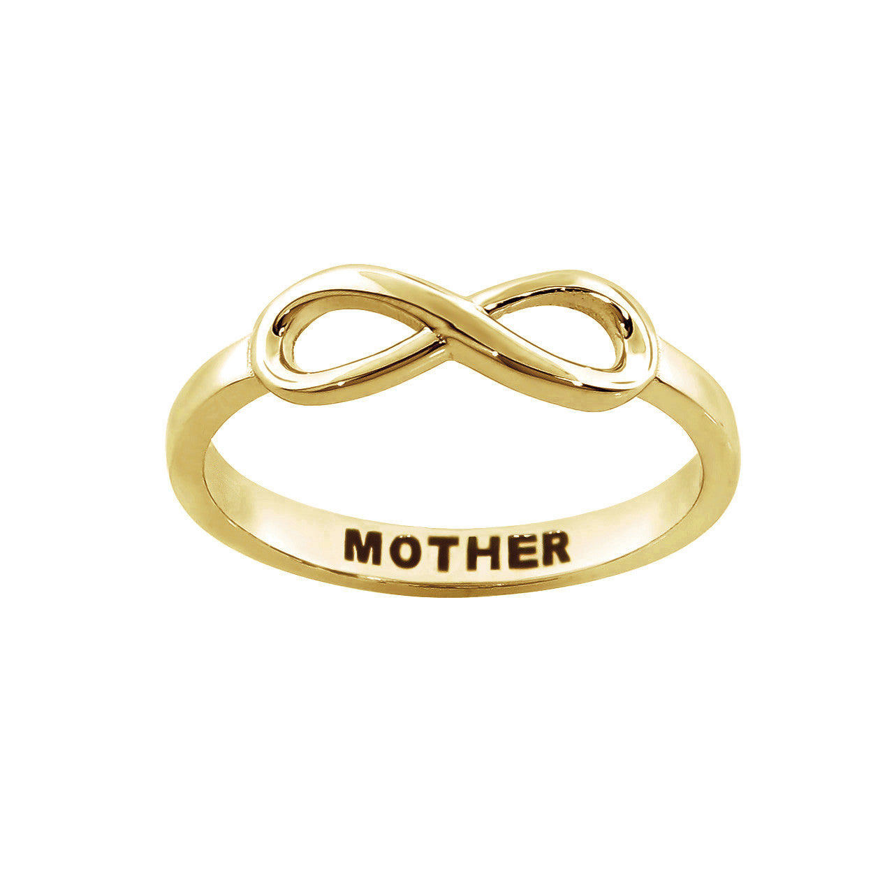 "Solid Sterling Silver ""Mother"" Message Ring"