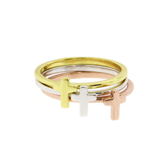Stackable Cross Ring Set