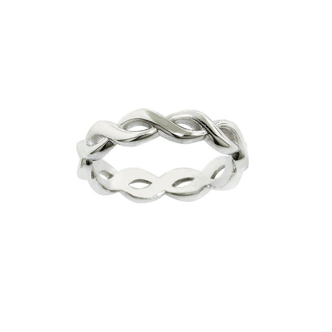 Solid Sterling Silver Eternity Midi Ring