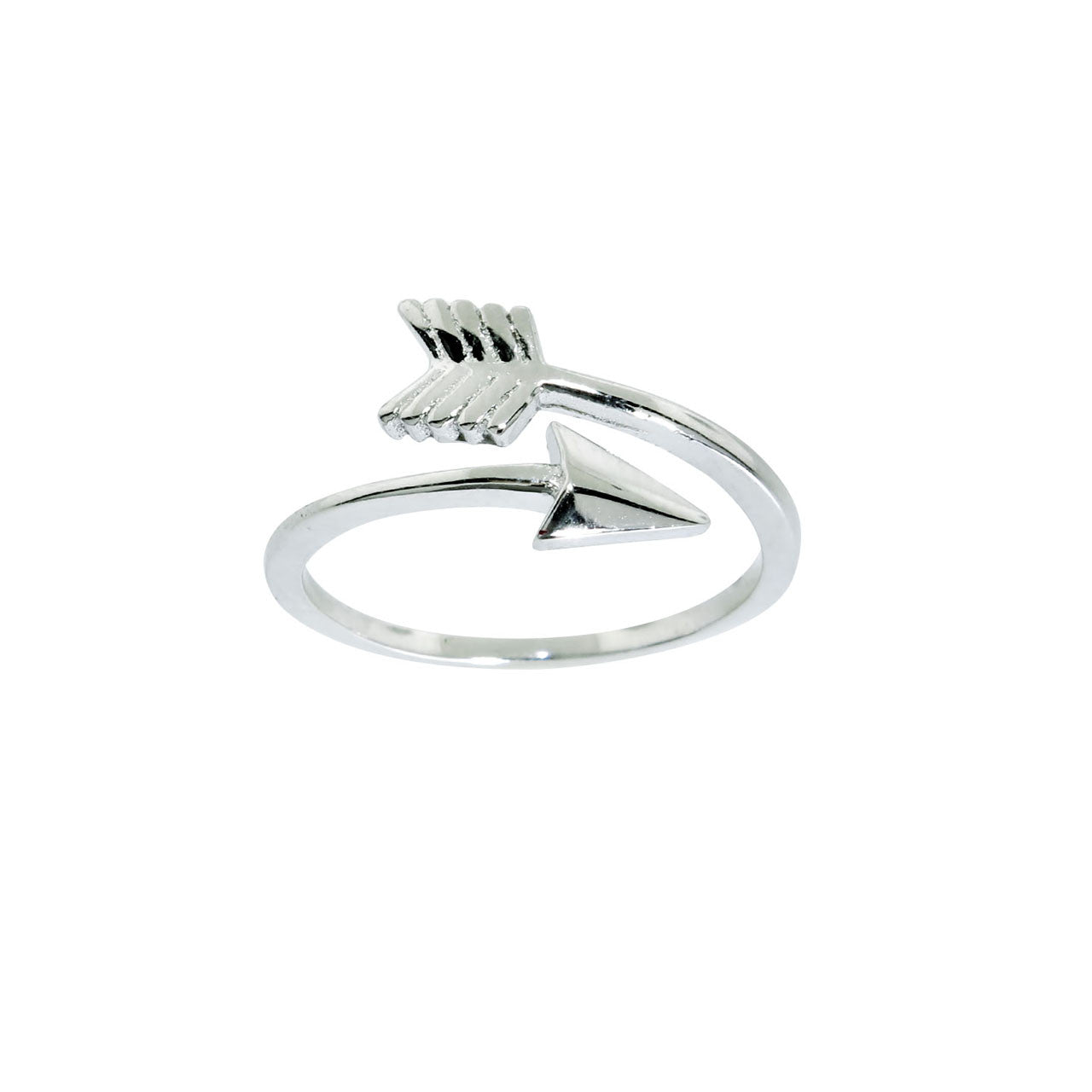 Solid Sterling Silver Arrow Midi Ring