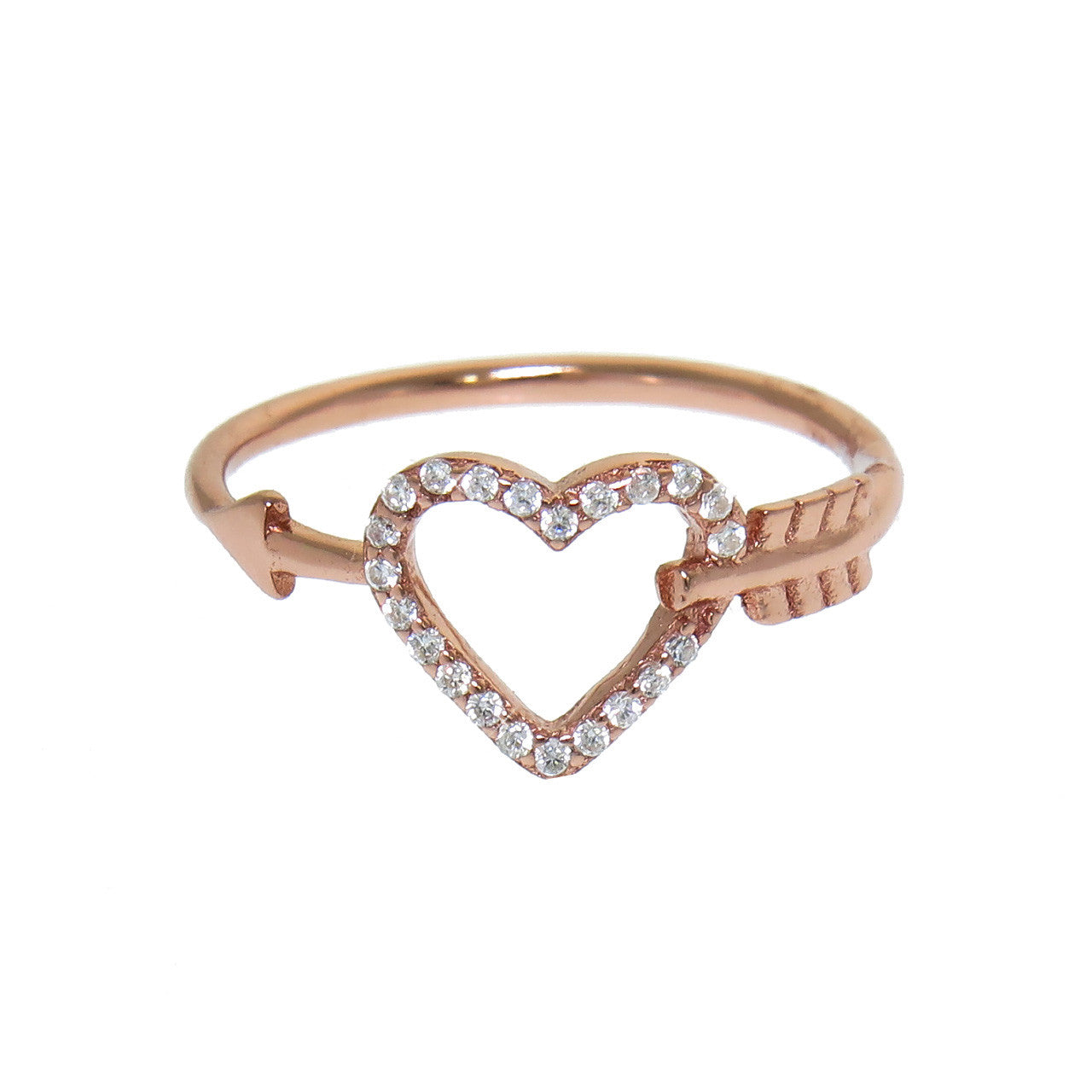 Sterling Silver Cupid's Heart Ring