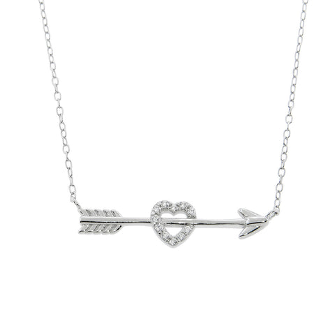 Sterling Silver Heart and Arrow Necklace
