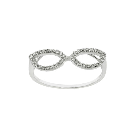 Sterling Silver Geek Chic Pave Ring