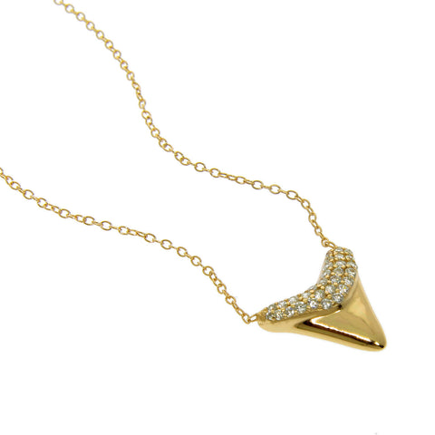 Sterling Silver Sharkstooth Necklace