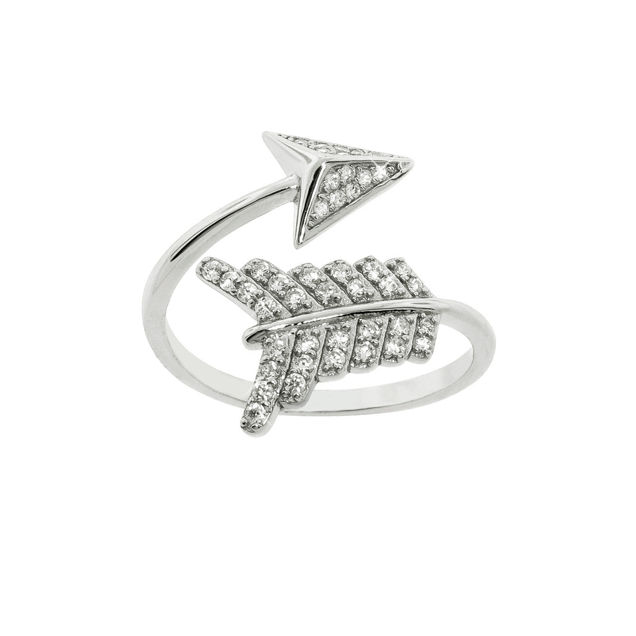 Sterling Silver Archer's Arrow Ring