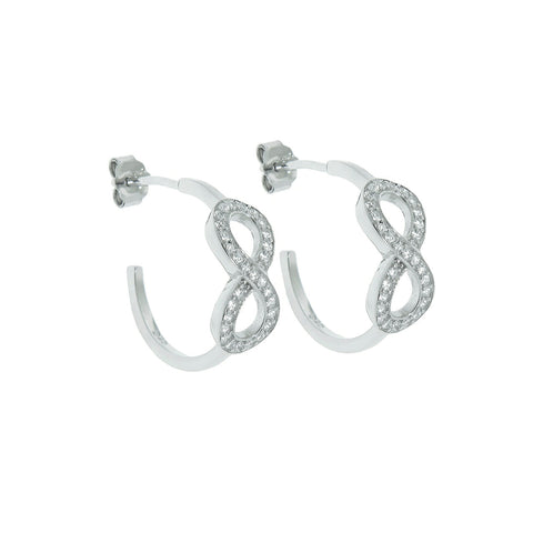 Sterling Silver Infinity Hoop Earrings