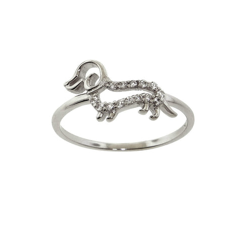 Sterling Silver Dog Ring