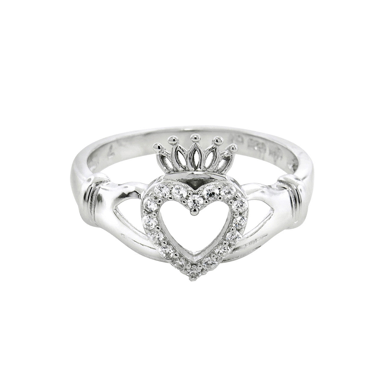 Sterling Silver Claddagh Loyalty Ring