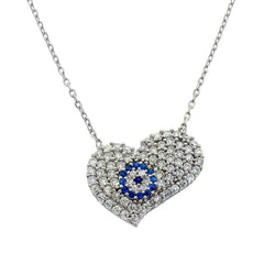 Melted Heart Evil Eye Necklace