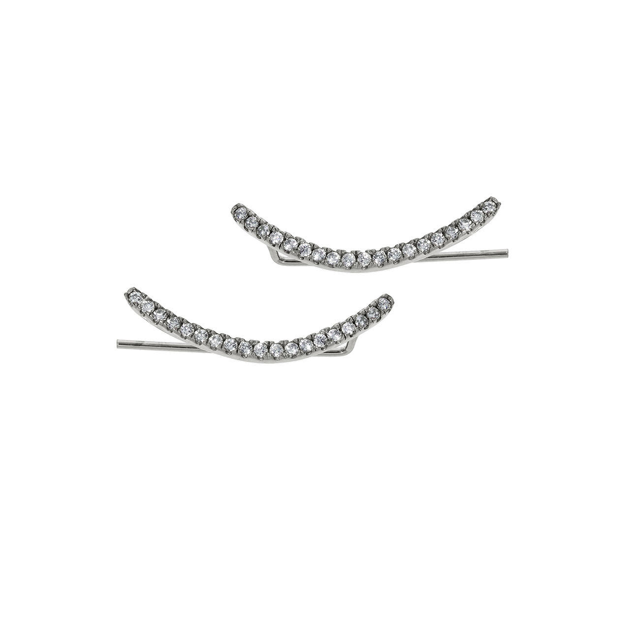 Solid Sterling Silver Arc Ear Climber