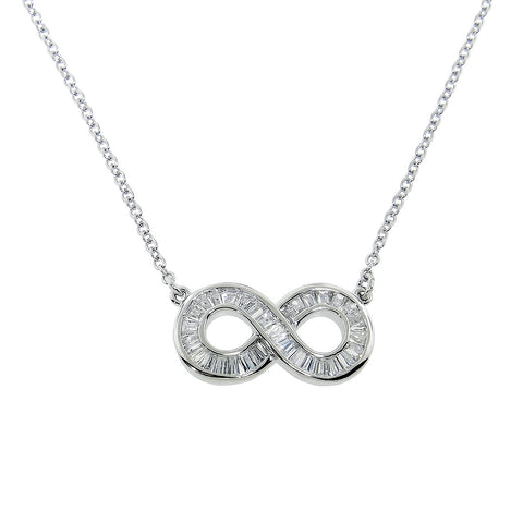 Baguette Infinity Necklace