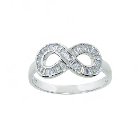 Sterling Silver Baguette Infinity Ring
