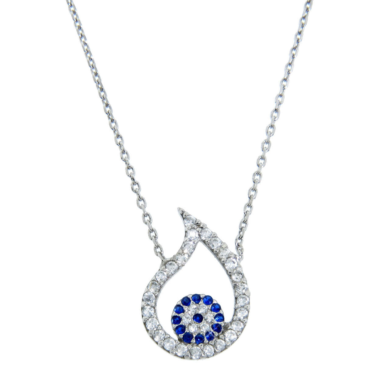 Tear Drop Evil Eye Necklace