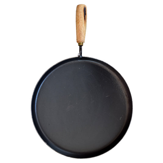 Iron Dosa Tawa With Handle, Iron Thawa Wooden Handle, Flat Iron Chapati Pan - Buy Online