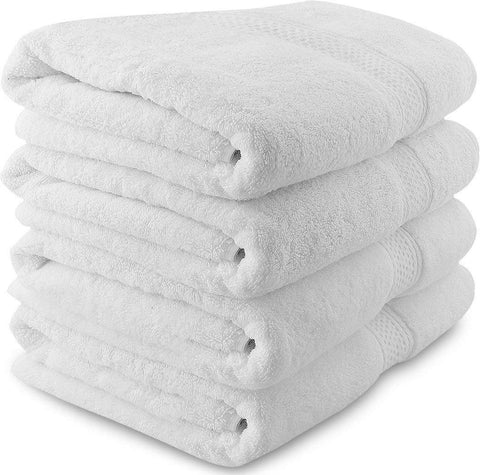 Bath Towel, Soft Absorbent White Cotton Bath Towel Sheets for Resorts, Bathroom, Spa, Pool - Buy Online
