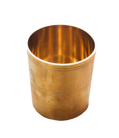 Brass Nazhi Glass, Padi Uzhakku, Nira Para, Traditional Rice Measuring Brass Glass - Buy online