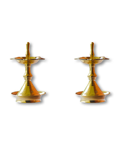 Nilavilakku Very Small - Kerala Traditional Brass Oil Lamp Oil Diya Lamp - Buy Online