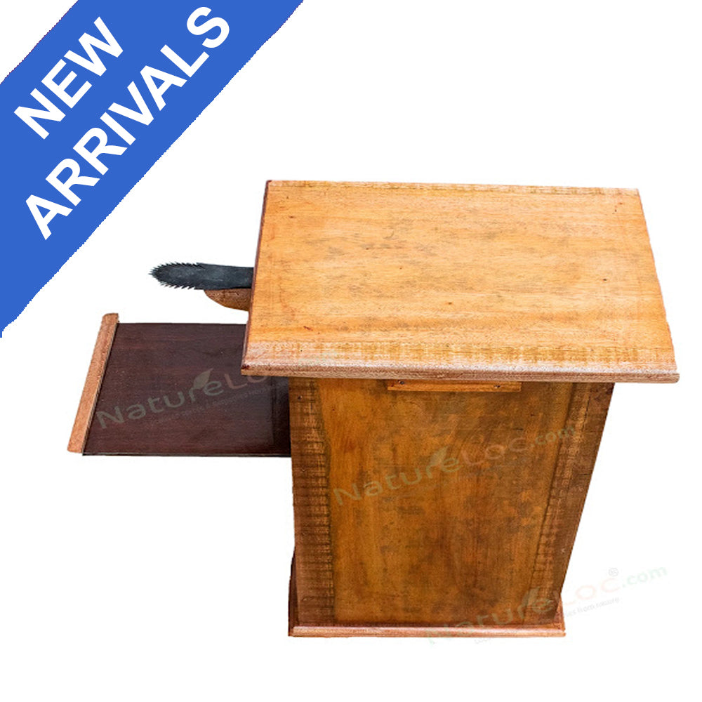 Chirava, Thenga Chirava, Stool Chirava with Storage Box, Box type Wooden Coconut Scrapper, Stool Coconut Scrapper with Box - Buy Online