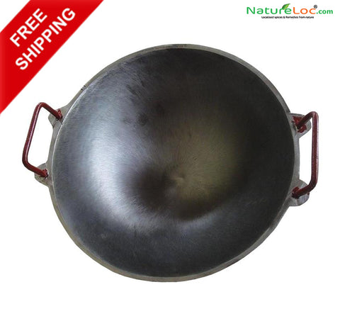 Cast Iron Kadai, Seasoned Cheeni Chatty, Kadai Not Seasoned Cheena Chatty - Buy Online