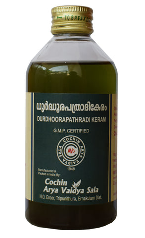 Durdhoorapathradi Keram Hair Oil - Ayurvedic Hair Oil - Buy Online