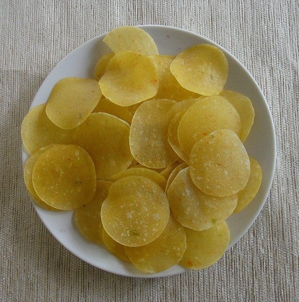 Garlic Pappad, Garlic rice Pappads, Round shaped Rice Papads with Garlic - Buy Online