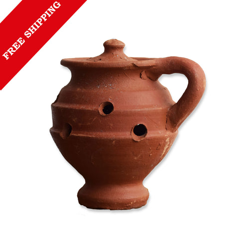 Incense Burner Clay Dhunachi, Indian Dhoop Burner, Kunthirikkam Burner, Kunthirikkam Smoker - Buy Online