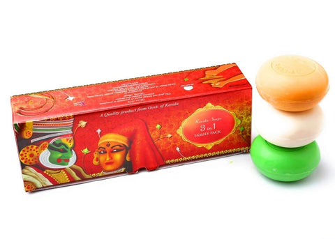 Kerala Soaps 3 in 1 Family Pack (Thrill + Kerala Sandal + VEP) - Buy Online