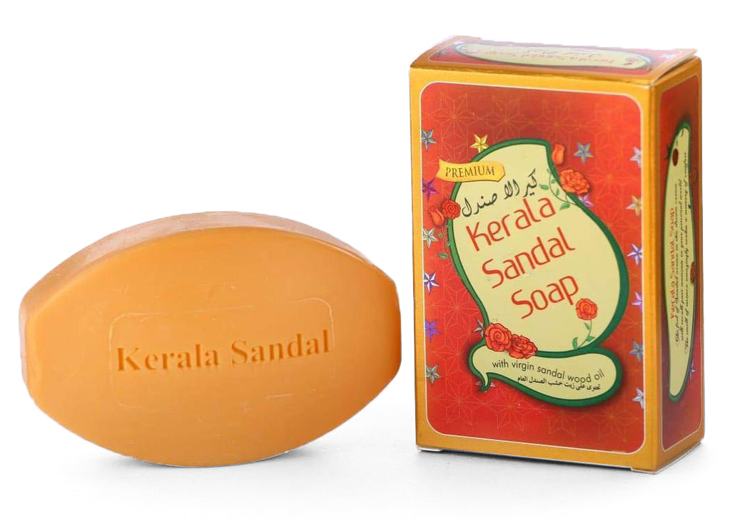 Kerala Sandal Soap With Virgin Sandalwood Oil -Buy Online Kerala Chandanam Soap 75gm
