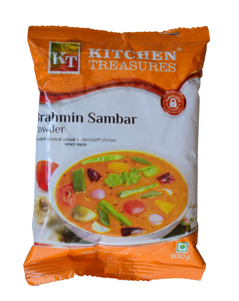 Brahmins Sambar Powder - Kitchen Treasures Brahmins Sambar Podi - Buy Online
