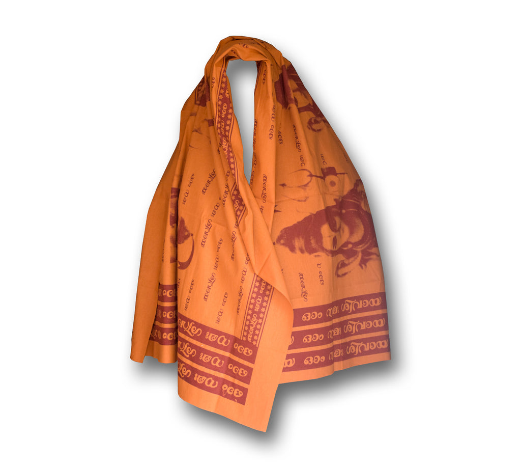 Prayer Shawl or Scarf, Meditation Scarf, Yoga Prayer Shawl, Orange Coloured prayer shawl - Buy Online