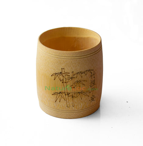 Bamboo Cup - Green Natural Pure Handmade Bamboo Tea Cups Water Cup, Bamboo Round Cups - Buy Online