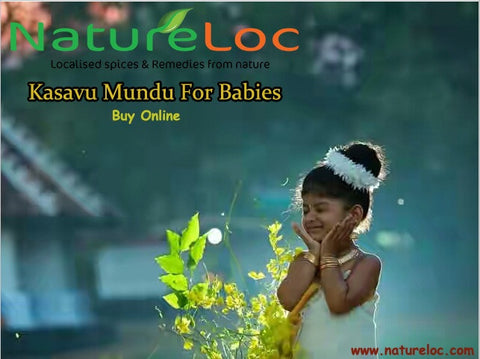 NatureLoC Kasavu Mundu For Kids-Babies -Sticker Type-Buy Online