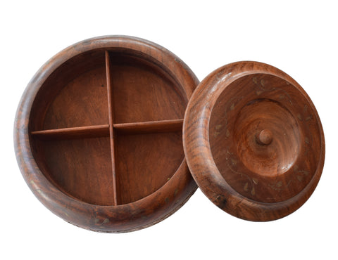Round Wooden Spices Gift Box