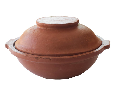 Clay Appam Kadai With Lid, Clay Appa Chatti, Clay Earthen Cooking Pot - Handmade Earthen Cookware - Buy Online