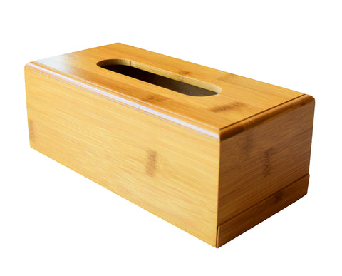 Bamboo Tissue Box Holder - Decorative Bamboo Handcrafted Tissue Box Dispenser - Buy Online