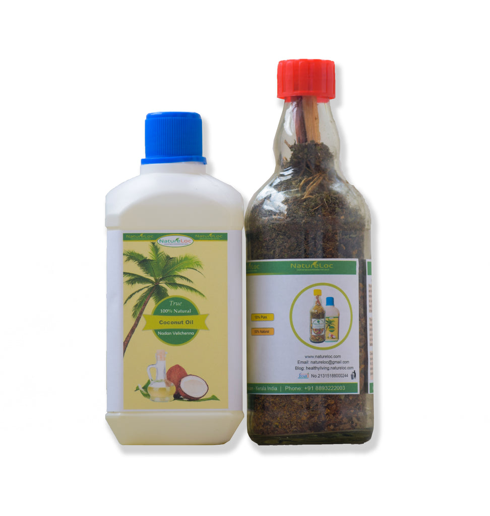 natural hair care - ayurvedic herbal hair oil mix