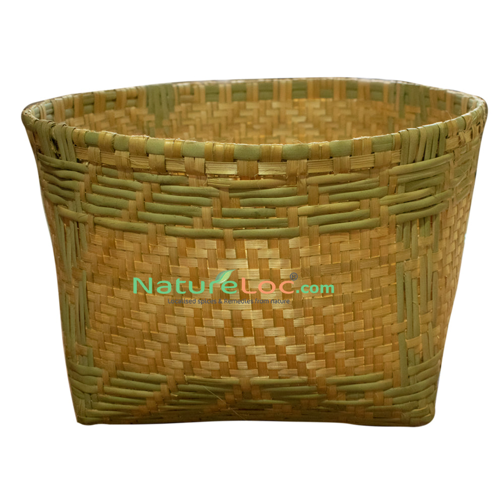 Basket, Bamboo Basket, Basket Made of Bamboo Reed, Reed Baskets, Eeta Basket - Buy Online