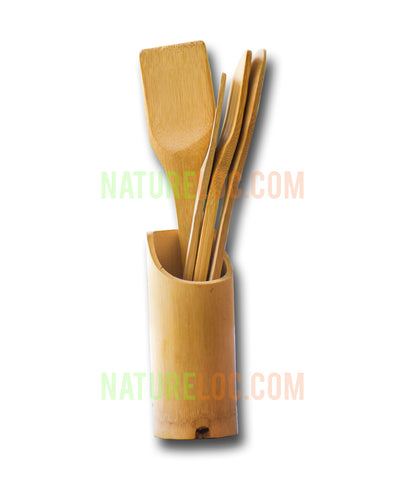 Bamboo Spatula Set, 4 Types of Ladles, Wooden Large Spoon Set, Bamboo Ladles - Buy Online