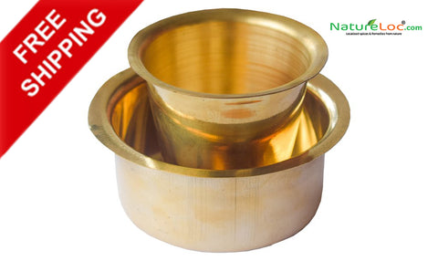 Brass Dabara Set, Coffee or Tea Serving Drinkware, South Indian Coffee Brass Tumbler Cup Set - Buy Online
