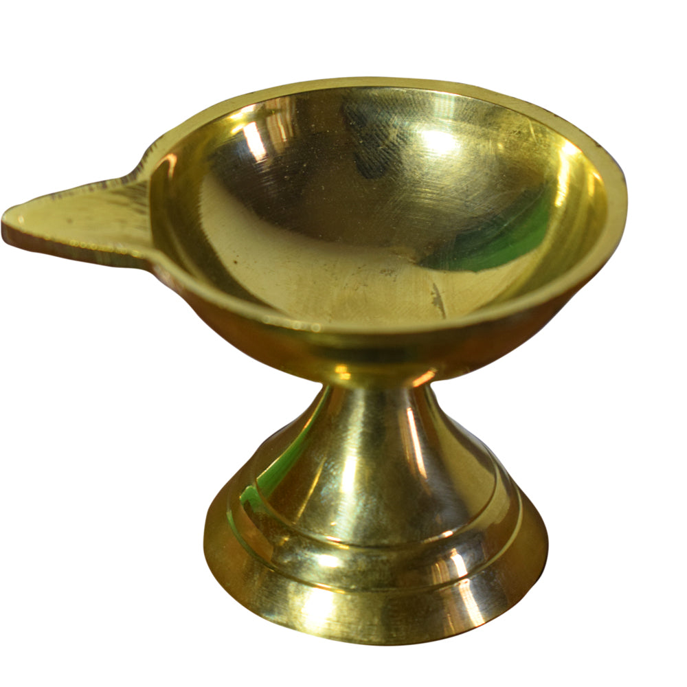 Brass Chiratu with stand, Diwali Brass Diya's, Brass made Diwali lights, Diwali Festival Diya, Brass Lamp with oil - Buy Online
