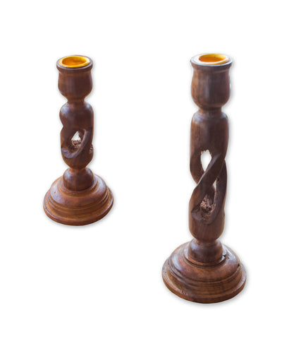 Candle Stand, Wooden Candle Stand, Handcrafted Wooden Candle stand, Polished Wooden Candle Holder - Buy Online