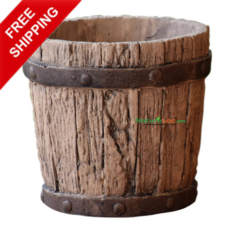Wood design Ceramic Indoor Pots, Wooden Coloured Ceramic Planters, Brown colour Ceramic pot - Buy Online