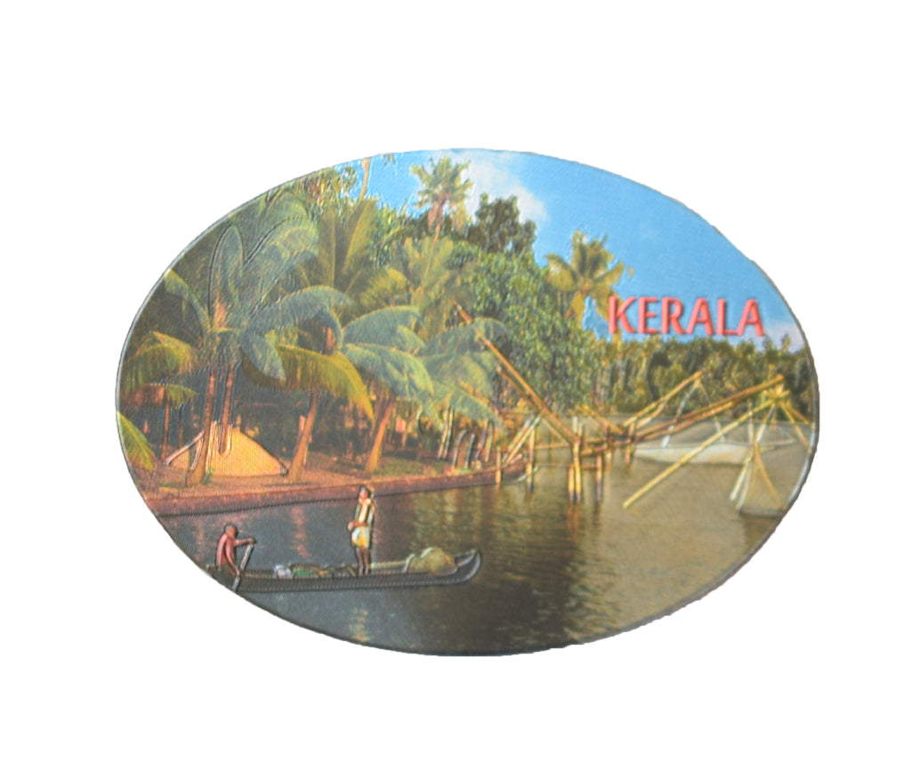 Kerala Backwaters Fishing Net Oval Shaped Fridge Refrigerator Magnets Souvenir - Buy Online